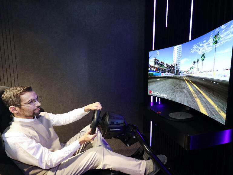 LG Display: Your next gaming monitor could have a 48-inch bendable OLED screen that produces sound without speakers