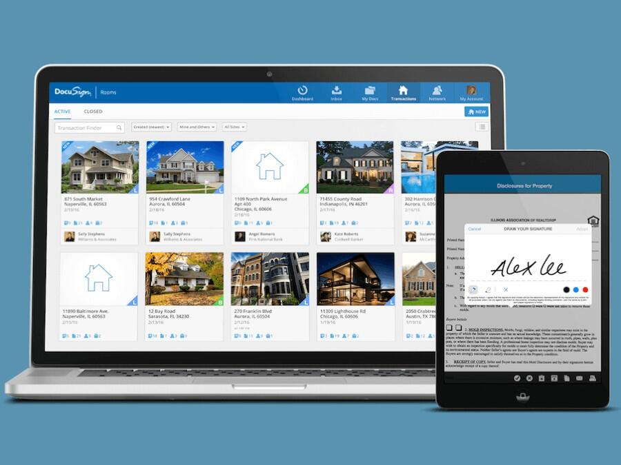 The Best Real Estate CRM Software Tools For Success In 2021 - Instagram DocuSign - Document signing and management