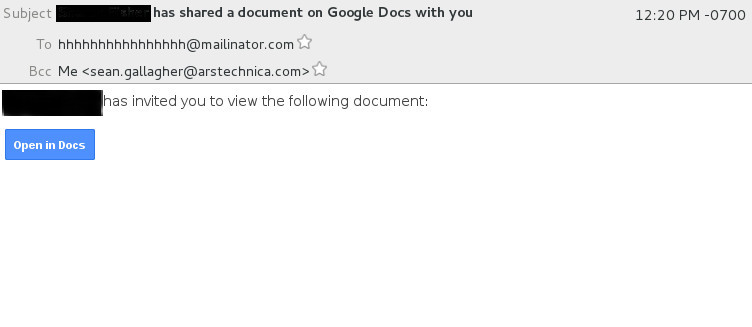 All your Googles are belong to us: Look out for the Google Docs phishing worm