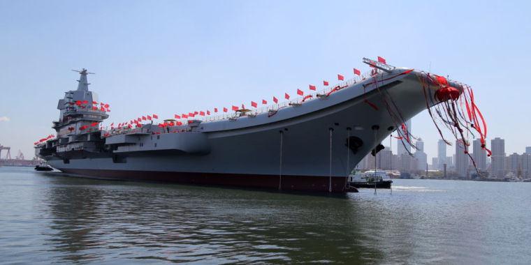 China launches second (and first homegrown) aircraft carrier