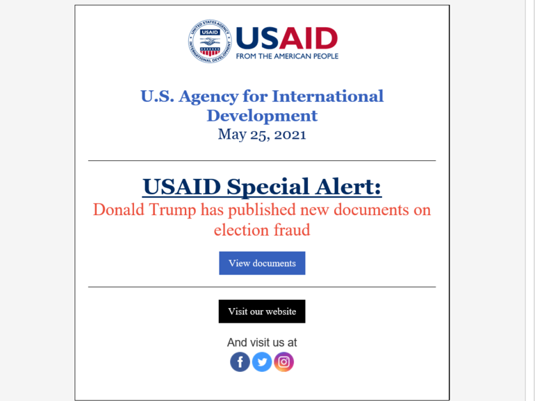 Microsoft warns of current Nobelium phishing campaign impersonating USAID