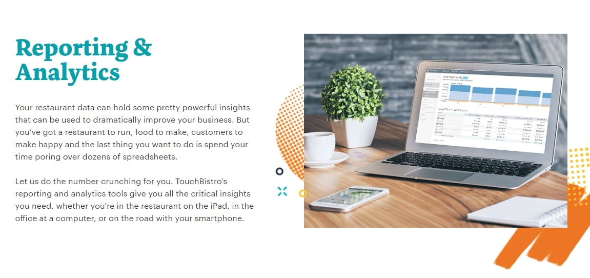 TouchBistro Inc POS systems analytics tools are excellent