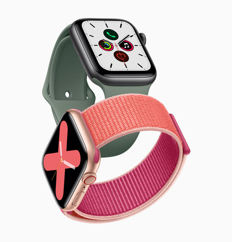apple-watch-series-5-gold-aluminum-case-pomegranate-band-and-space-gray-aluminum-case-pine-green-band-091019.jpg