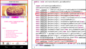 An example of one infected app's user interface and underlying code.