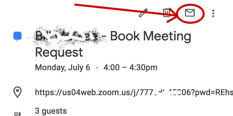 Email meeting attendees