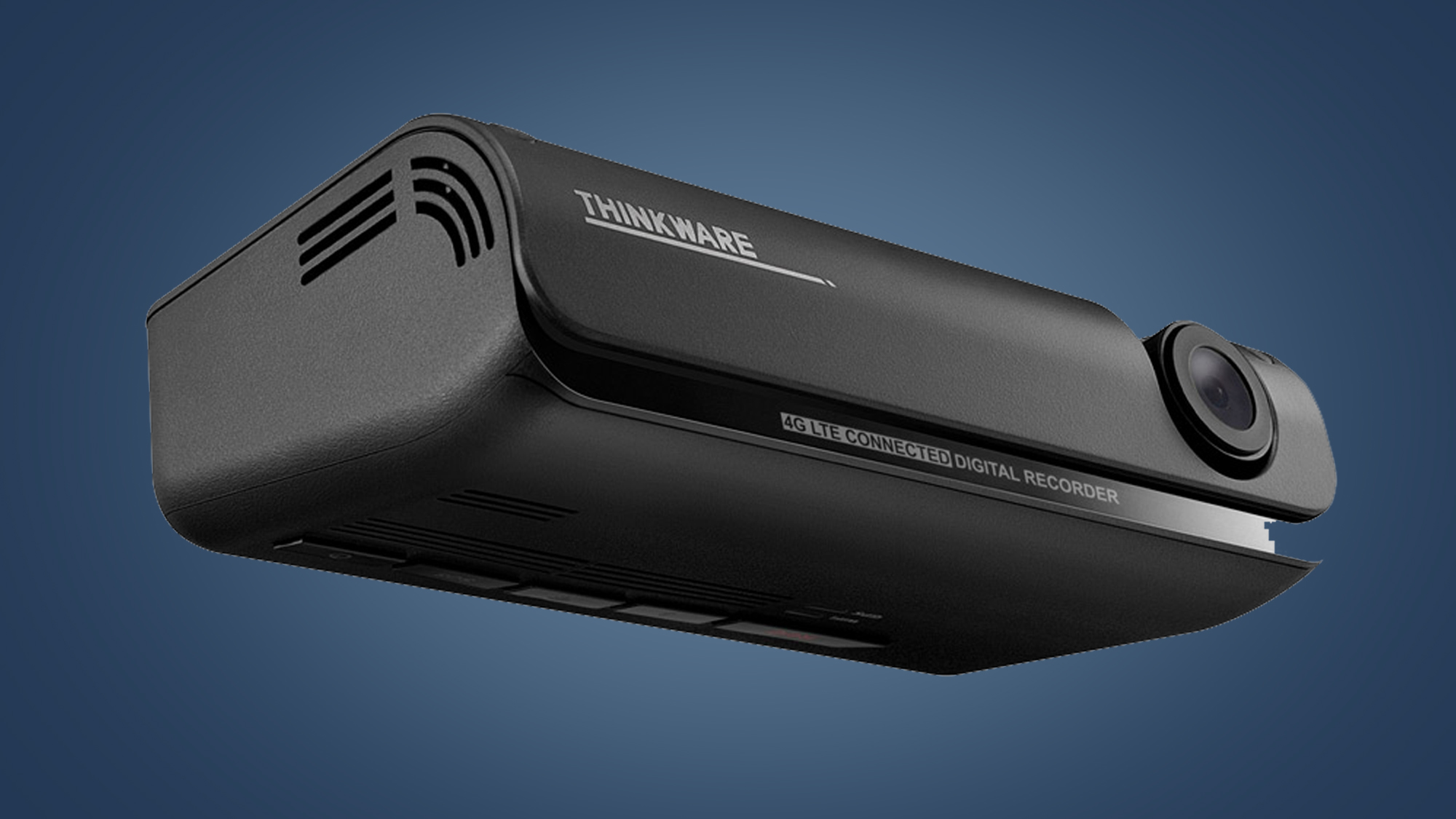 The front and underside of the Thinkware T700 dash cam