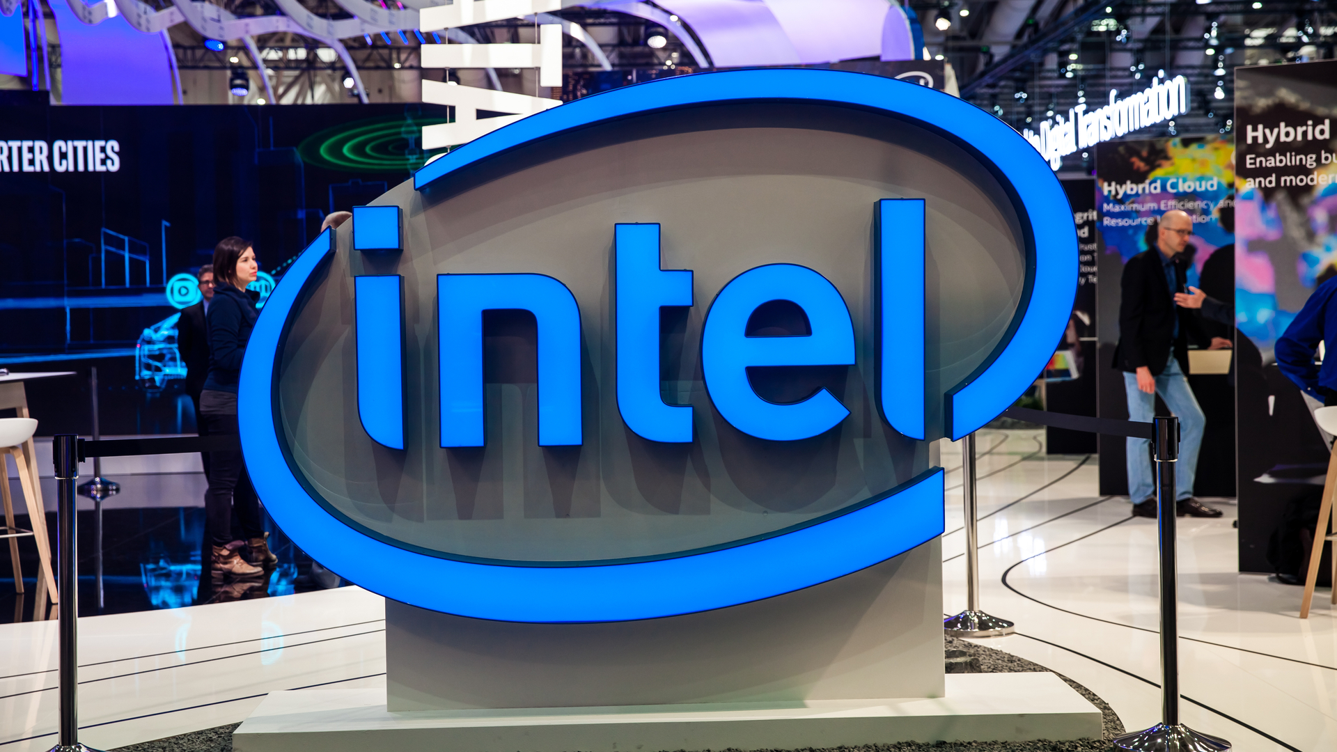 Intel sign at CES
